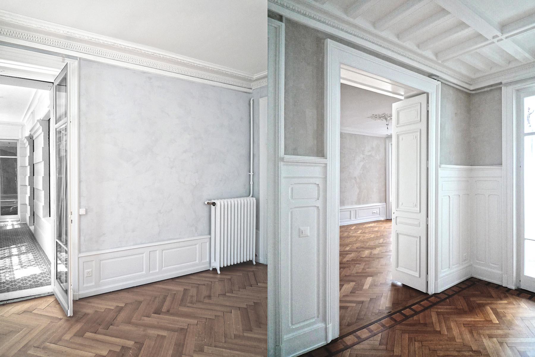 Genève / Geneva, Transformation d'appartement / Flat refurbishment, Burrus Nussbaumer Architectes