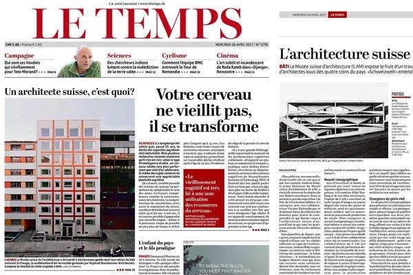 Surélévation / Rooftop extension Sécheron Le Temps 26.04.17 Burrus Nussbaumer Architectes