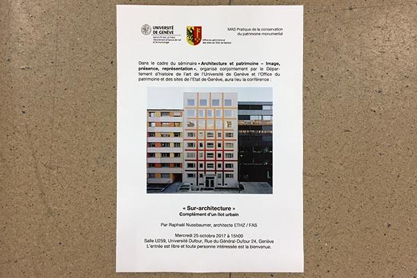 Université de Genève / University of Geneva / Conférence Raphaël Nussbaumer