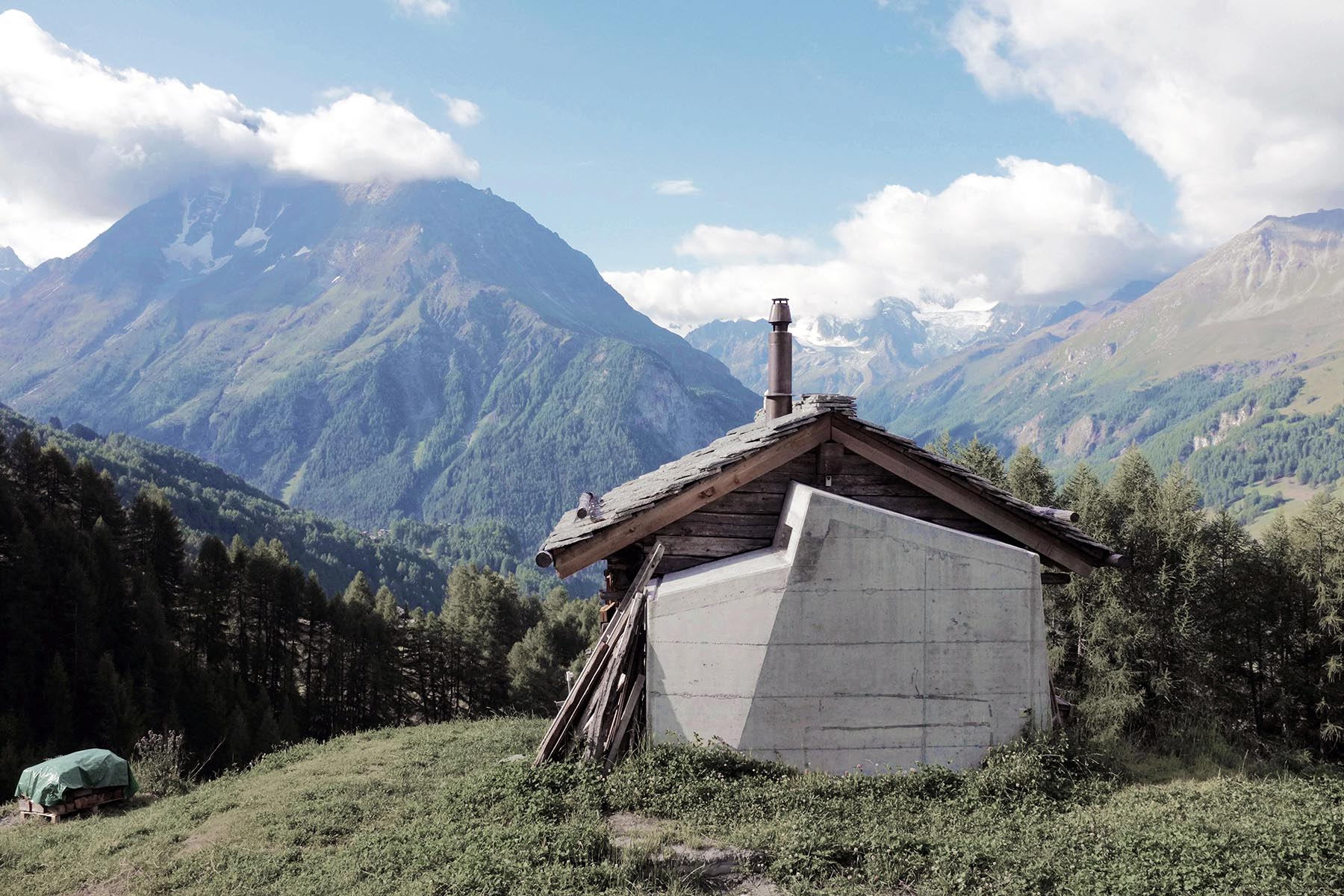 La Sage, Valais, Transformation de grange / Barn refurbishment, Burrus Nussbaumer Architectes